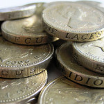 Images of pound coins