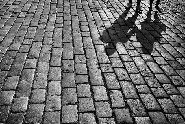 shadows on street