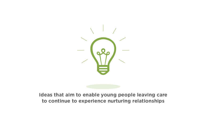 Ideas that aim to enable young people leaving care to continue to experience nurturing relationships