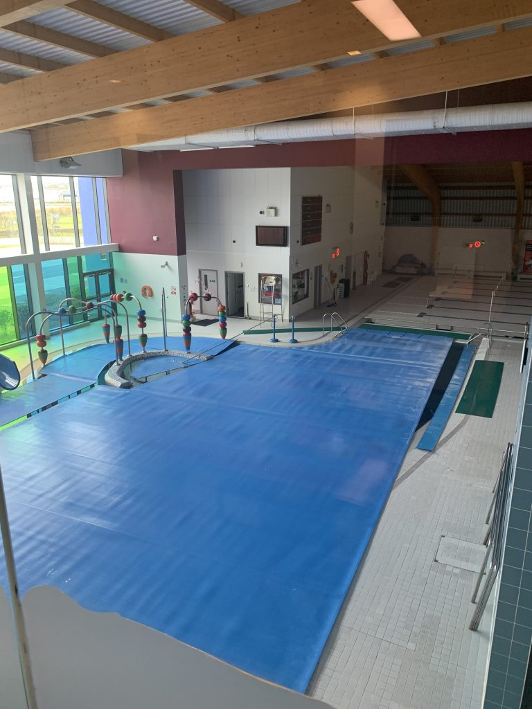 swimming pool covered over