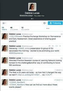 Screen grab of Debbie Lucas's tweets