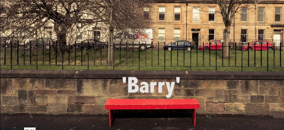Barry the red bench